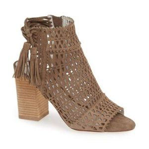 Jeffrey Campbell Taupe Suede Ottawa Shoe Sz 8.5